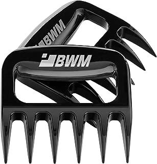 Meat Shredder Claws For Pulled Pork, YBWM Solid and Ultra-Sharp Blades BBQ Tool Meat Handler Forks for Shredding Handling & Carving Food, Barbecue Pulling Pork Shredder Claw Set of 2( Black)