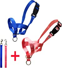 YAODHAOD Dog Head Collar Nylon Dog Muzzle Adjustable Loop,No Pull Training Tool for Dogs on Walks, Bite Bark Control Easy Fit Dog Mouth Muzzle