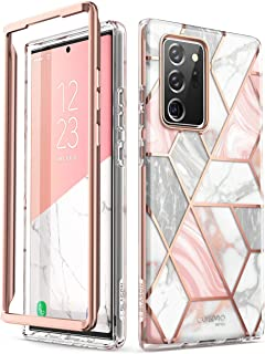 i-Blason Cosmo Series Case Designed for Galaxy Note 20 Ultra 5G (2020 Release), Protective Bumper Marble Design Without Bu...