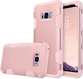 Galaxy S8 Plus Case, UrbanDrama 3 in 1 Drop-Protection Hard PC, Soft Silicone Combo Defender Heavy Duty Rugged Shockproof Bumper Full-Body Protective Case for Samsung Galaxy S8 Plus 6.2 inch Rose Gold