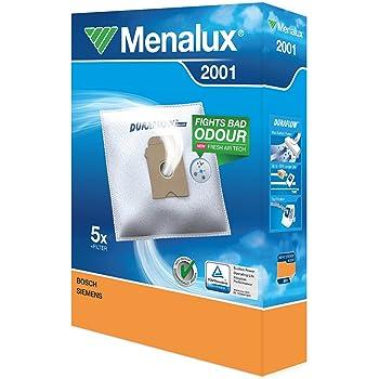 Menalux 2001 Pack con 5 bolsas y 1 filtro para aspiradores Bosch, Siemens y Ufesa: Amazon.es: Hogar