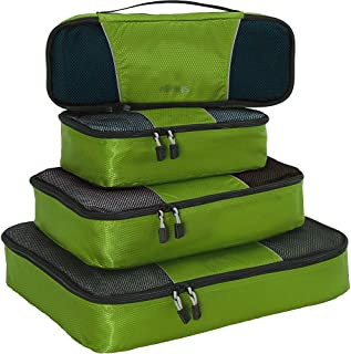 Classic Packing Cubes for Travel - 4pc Classic Plus Set - (Grasshopper)