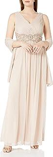 Xscape Women's Chiffon V-Front Dress