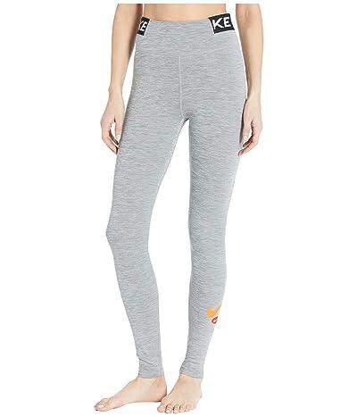 Nike One Tights Icon Clash (Iron Grey/Heather/Black/Safety Orange) Women