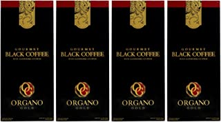 4 Boxes Organo Gold Black Coffee Low Caffeine (30 sachets/Box)+Free sachets Samples (4 Boxes)