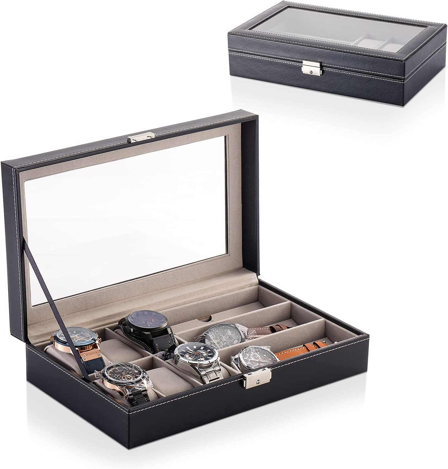 YDJGY FIVEDREAM Watch Box Dealing Mesa Mall full price reduction and Glasses Organizer wi Sunglass Case