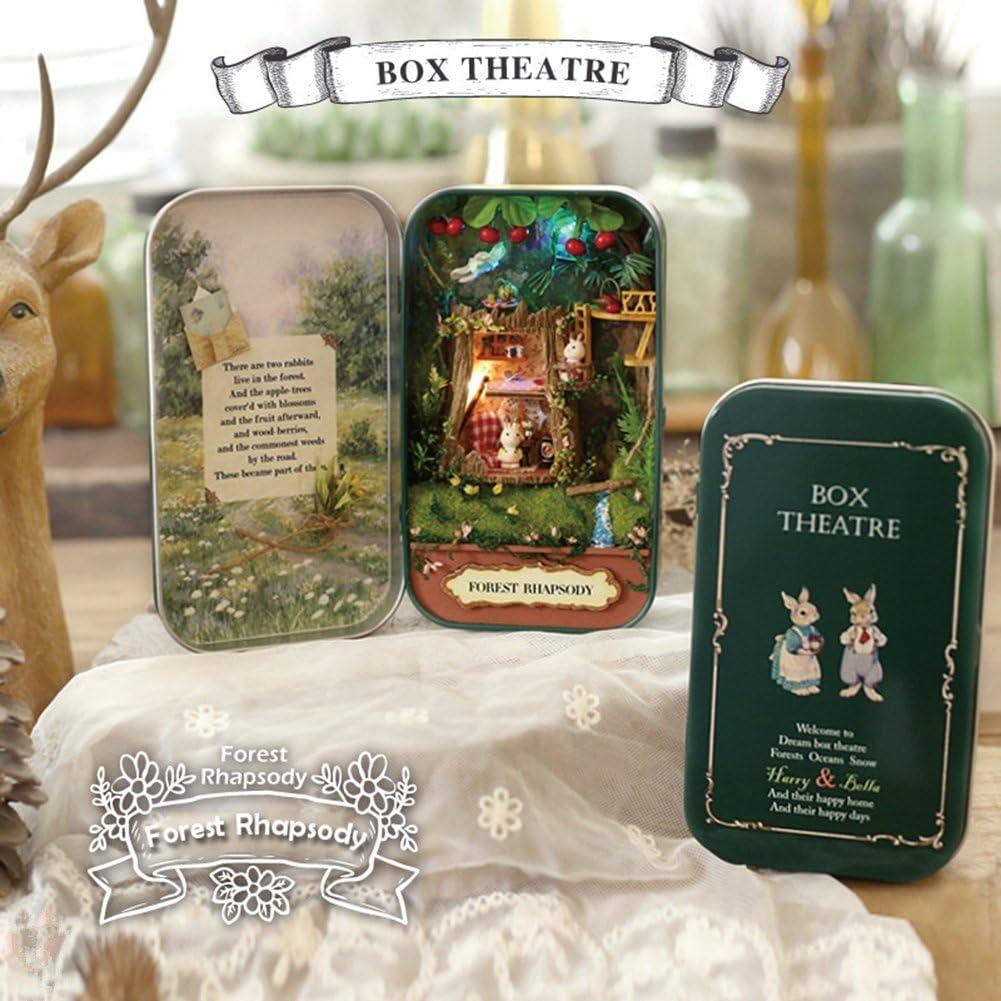 Instenira Box Theater Dollhouse Mini DIY Handicraft Super beauty product restock 70% OFF Outlet quality top Cabin Assem
