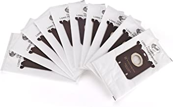 GL Gear Replacement Dustbags for Electrolux Vacuum Cleaners Anti-Allergy S Bag EL200F,EL202F,EL4100,EL4200 EL6985 EL7000 EL8500 Philips Tornado Volta AEG (10 Pack)