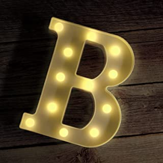 Novelty Place Alphabet Light - Marquee Letters Sign with Shining Bulbs, Standing Night Lamp for Wedding Home Party Bar Déc...
