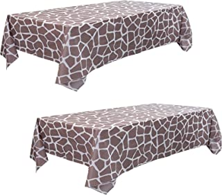 Giraffe Tablecloth Cover Wild One Party Supplies Animal Print Birthday Giraffe Themed Party 54 X 108 Inch