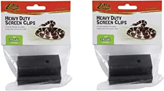 Zilla Reptile Terrarium Covers Heavy Duty Screen Clips, Small 5-29 Gallons - 2 Clips Each