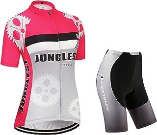 jnl (opción:Tirante,3D 2.8cm Cojín) Moda Ropa Maillot de Ciclismo Jerseys para los Mujer Manga Corta Traje Pants o Strap Chaleco rendimi