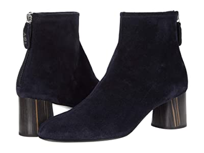 AGL Back Zip Ankle Bootie (Navy) Women