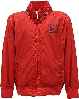 8825T giacca bimbo BIKKEMBERGS antivento rosso jacket kid WITHOUT LABEL
