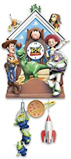 Bradford Exchange he Disney Pixar Toy Story Hand-Painted Sculptural Cuckoo Clock Plays Music