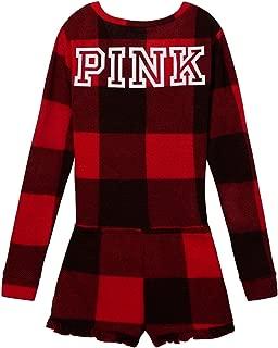 Victoria's Secret Red Plaid Thermal Short Romper Pajama Medium