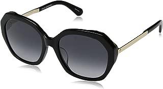 Kate Spade Women's Kaysie/f/s Oval Sunglasses, BLK HAVAN, 56 mm