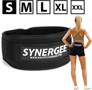 Synergee Weightlifting Belt,  Olympic Lifting,  Dynamic Workouts,  Weight Belt for Men and Women,  5 inch,  Back Support for Lifting