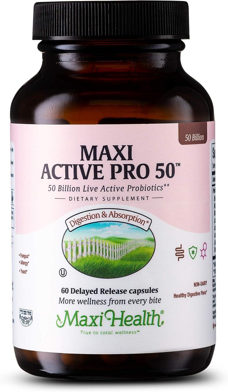 Maxi Health Active Pro-50 Live San Diego Mall Columbus Mall Probiotics 30 Protection Ultra