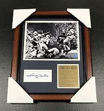 Autographed Johnny Unitas Picture - #1 Cut REPRINT Framed 8x10 - Autographed NFL Photos