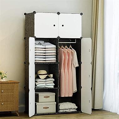 Home Bedroom Armoire Wardrobe Portable Clothes Closet Polyresin Storage Organizer Shelving Unit Clothing Storage Cabinet Clos