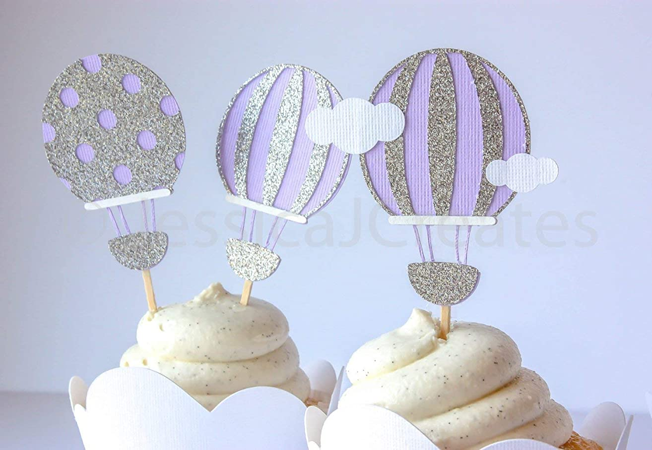 Cupcake Toppers - Hot Air Balloon Cupcake Toppers - Hot Air Balloon - 12 ct