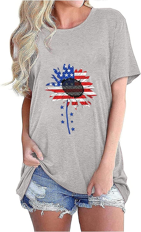 Womens Stars Stripes Flag American T Shirt,4th of July Shirt Raglan Short Sleeve Graphic Patriotic Tees Tops