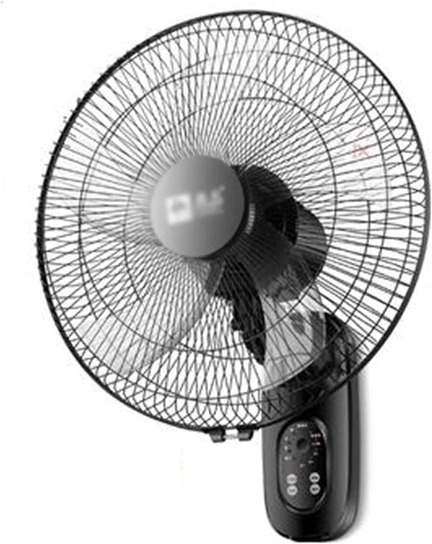 Ventilador de Pared, Dormitorio en Casa, Oficina, Dormitorio, Cafetería, Taller, Taller, Control Remoto de Tres Velocidades, Ventilador de Cabeza con Movimiento Silencioso, Potencia 65 W /