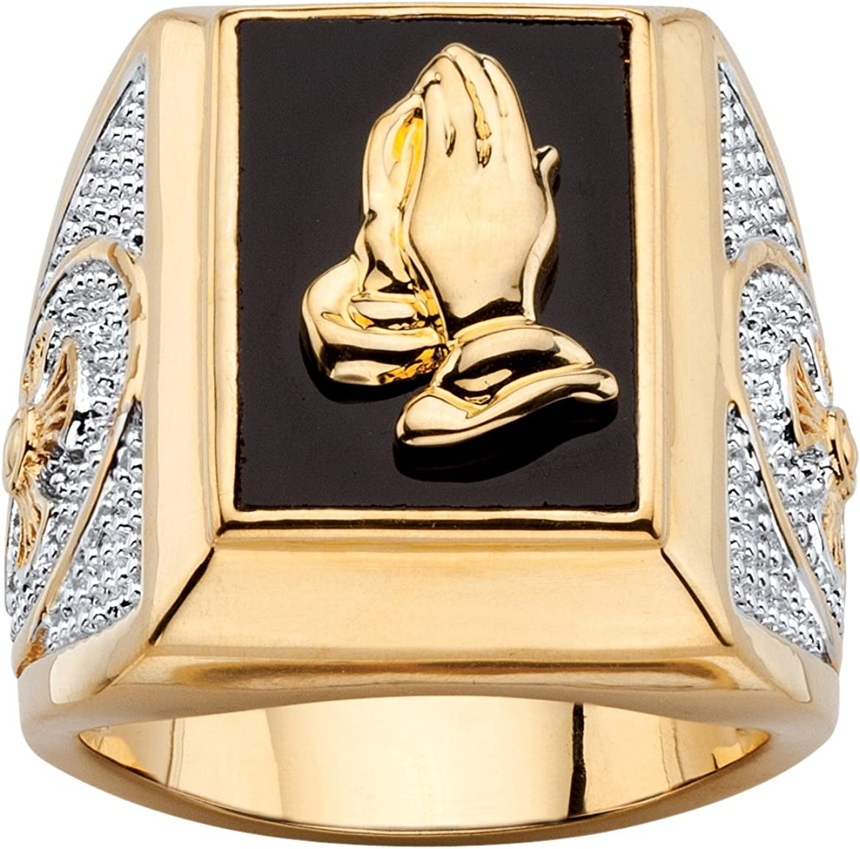 Seta Jewelry Men's 14K service Yellow Shaped Plated Mail order Nat Gold Rectangular