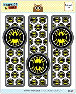 Justice League Batman Athletic Logo Set of 3 Glossy Laminated Bookmarks