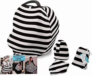 Yoopeey Nursing Cover for Breastfeeding and Discreet Lactation Carrier Shopping cart Covers Function//Use Car Seat Canopy Baby Stroller High Chair Multi