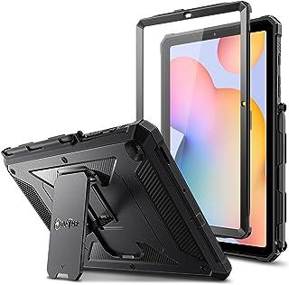 جراب مضاد للصدمات لهاتف Samsung Galaxy Tab S6 Lite 10.4 بوصة 2020 (موديل -P610/P615)، جراب بمسند واقٍ كامل واقٍ مدمج من Tu...