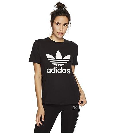 adidas Originals Trefoil Tee (Black/White 3) Women