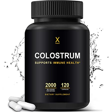 Colostrum 2000mg - Third Party Tested Colostrum - Supports Healthy Immunity And Gut Health - Contains Naturally Occurring Immunoglobulins And Lactoferrin - Colostrum Capsules - By Humanx