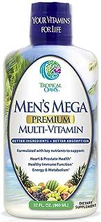 Men's Mega Premium Liquid Multivitamin w/CoQ10, Paba + 100 Additional Vitamins, Minerals, Amino Acids to Support Muscle, H...
