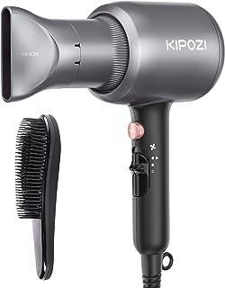 KIPOZI Asciugacapelli Professionale, Phon per Capelli Ionico da 2200W, Potente Fon da Salone per Un'Asciugatura Rapida – c...
