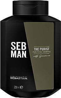 Sebastian SEBMAN The Purist: Champú Hombre Purificante Cuero Cabelludo Seco y Cabello Normal o Graso - 250ml
