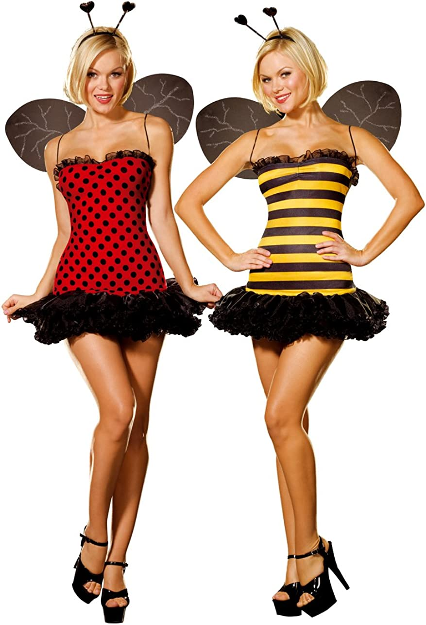 Dreamgirl Tampa Mall Ranking TOP15 Women's Reversible Bumble Bee Costume Multi Bug Lady