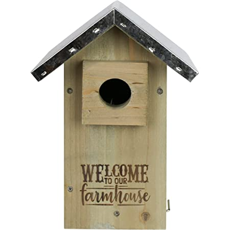 Nature's Way Bird Products 066572 Galvanized Weathered Cedar Bluebird House