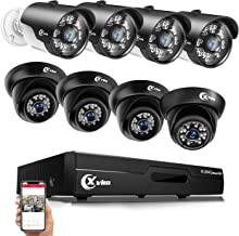 XVIM 8CH H.264 Home Security Camera System, 8 AHD 720P Indoor Outdoor Waterproof Surveillance Cameras 1080N DVR Recorder with 85FT Night Vision and Motion Alert (No Hard Drive)