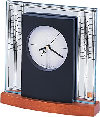 Bulova B7750 Glasner House Frankl Lloyd Wright Clock, Light Cherry Stain