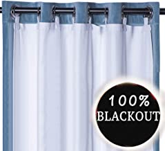 Rose Home Fashion Thermal Insulated Blackout Curtain Liner White Panel-Ring Included- Thermal Liner for Curtains/Drapes,Curtain Liner 100% Darkening,Blackout Liner for 84 Inch Curtains:50