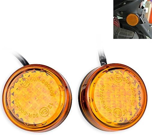 Katur Waterproof Amber 24 Led Runde Reflektoren Heckbremse Stop Begrenzungsleuchte Lkw Anhänger Rv Atv Motorrad Auto