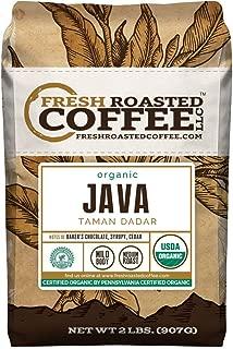 Java Taman Dadar Organic Coffee, Whole Bean, Fresh Roasted Coffee LLC. (2 LB.)