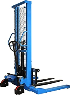 Straddle Pallet Stacker Manual Forklift 2200 lbs Capacity, 63