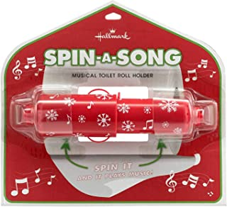 Hallmark Spin-a-Song Musical Toilet Roll Holder, Christmas