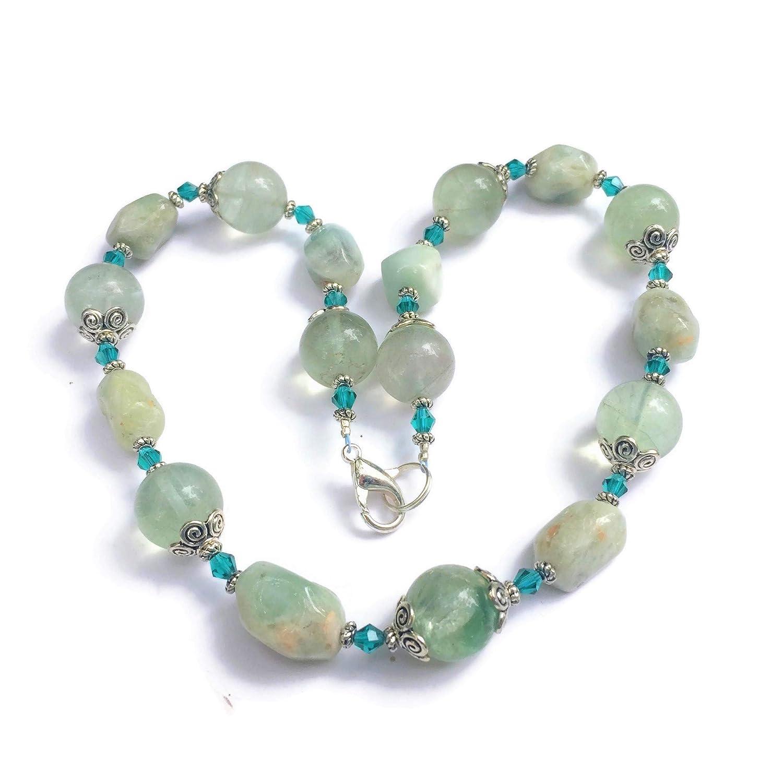 Aqua Blue Special Campaign Teal Necklace 17 Sales Natural Fluorite Ma inches Aquamarine