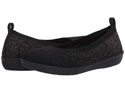 Clarks Ayla Paige (Black Knit/Rose Gold Flecks) Women
