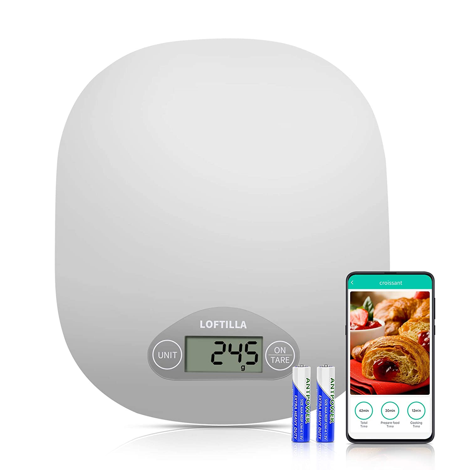 Loftilla Smart Food Scale for Weight Ana with 2021 model Arlington Mall Nutrition Loss APP
