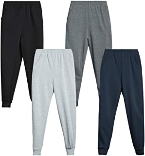 Coney Island Boys' Fleece Jogger Sweatpants for Athletic and Casual Wear (4 Pack)